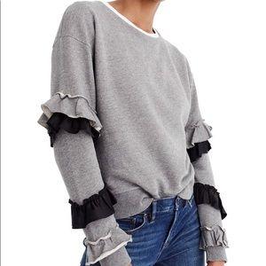 NWT J.Crew Ruffle Sweatshirt